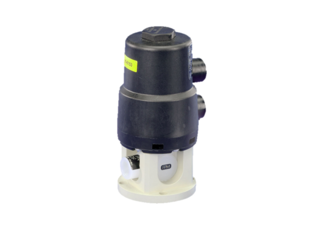 Ball valve (Series 6D) with pneumatic part-turn actuator (STANDARD), spring return, 2-way